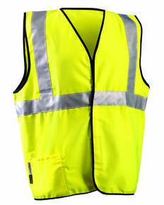 OccuNomix LUXSSCG Men's Classic Flame Resistant Cotton Blend Single Stripe Solid HRC 1 Vest