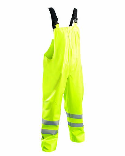 occunomix luxtbib men's premium flame resistant hrc 2 rain bib pants front image