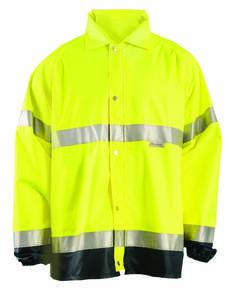 OccuNomix LUXTJR Men's Premium Flame Resistant Rain Jacket