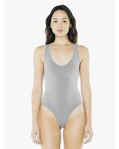 American Apparel SA8336W Ladies' Cotton Spandex Tank Thong Bodysuit