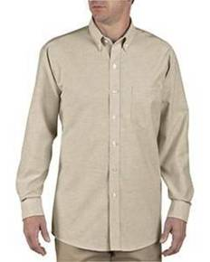 Dickies SS36 Unisex Button-Down Long-Sleeve Oxford Shirt