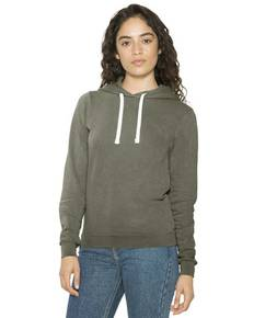 American Apparel TF3350W Ladies' French Terry Garment-Dyed Mid-Length Hooded Sweatshirt