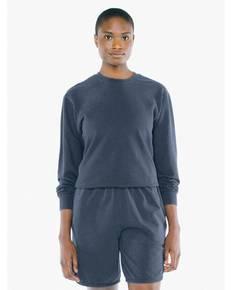 American Apparel TF478W Unisex French Terry Garment-Dyed Crewneck Sweatshirt