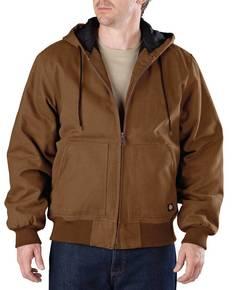 Dickies TJ245T Men's Tall Sanded Duck Hooded Jacket