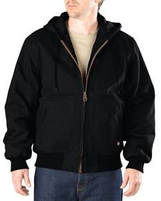 Dickies Drop Ship TJ245T Men's Tall Sanded Duck Hooded Jacket