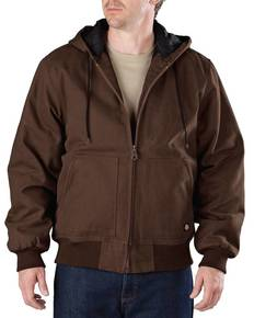 Dickies TJ245T Men's Tall Sanded Duck Hooded Jacket