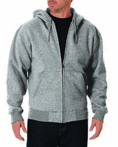 Dickies TW391T Unisex Tall Midweight Fleece Full Zip Hoodie