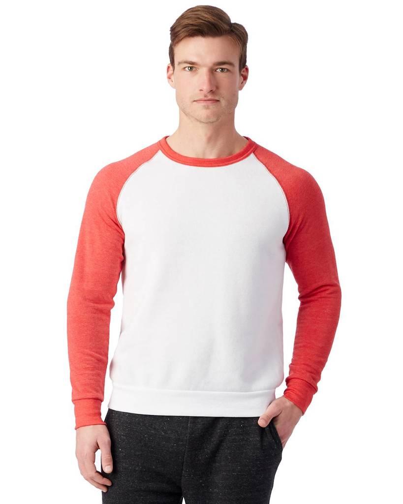 9918eab8860 Alternative AA3202 Unisex Champ Eco-Fleece Colorblocked Sweatshirt