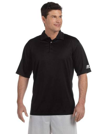 russell athletic 833ghm men's team essential polo front image