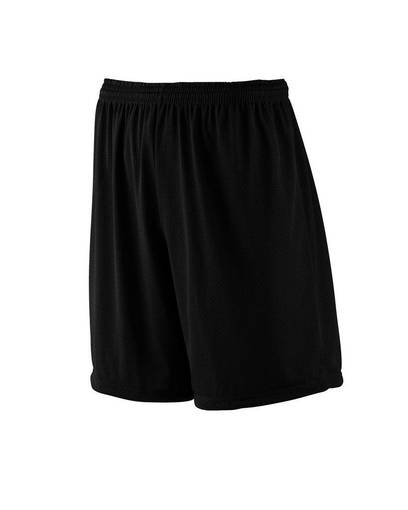 """augusta sportswear 843 youth tricot mesh/tricot-lined 7"""" short Front Fullsize"""