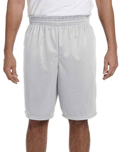 "augusta sportswear 848 adult tricot mesh/tricot-lined 9"" short front image"
