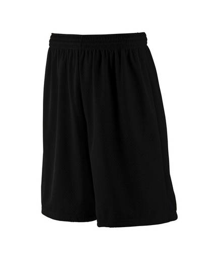 """augusta drop ship 849 youth tricot mesh/tricot-lined 9"""" short front image"""
