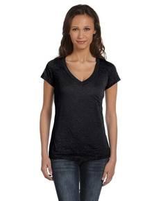 Bella + Canvas 8605 Ladies' Burnout Short-Sleeve V-Neck T-Shirt
