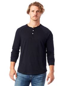 Alternative 6007C2 Adult Organic Raglan Long Sleeve Henley T-Shirt