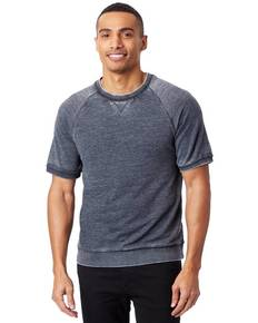 Alternative 8631F Adult 7.4 oz Burnout French Terry Short Sleeve Sweatshirt