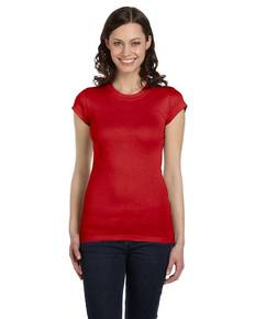 Bella + Canvas 8701 Ladies' Sheer Mini Rib Short-Sleeve T-Shirt