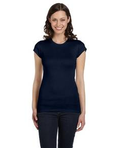 Bella + Canvas 8701 Ladies' Sheer Mini Rib Short-Sleeve T-Shirt