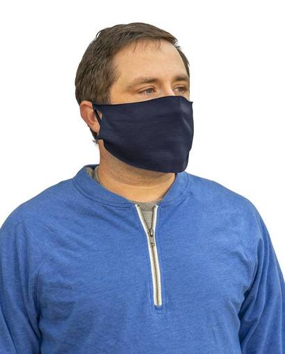 port & company pcfm21 disposable cotton/poly face cover (10-pack) Front Fullsize