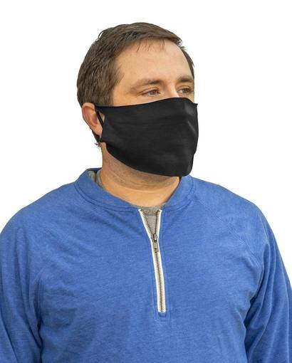 port & company pcfm21 disposable cotton/poly face cover (10-pack) front image