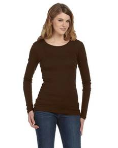 Bella + Canvas 8751 Ladies' Sheer Mini Rib Long-Sleeve T-Shirt