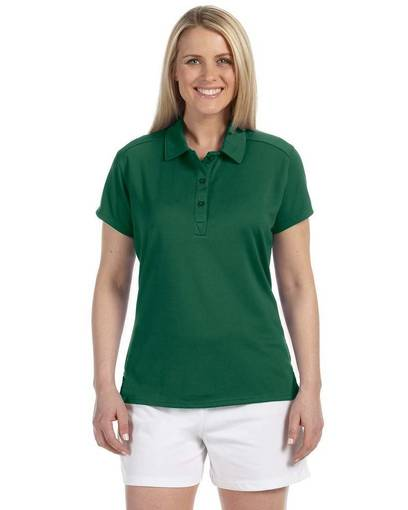russell athletic 933cfx ladies' team essential polo front image