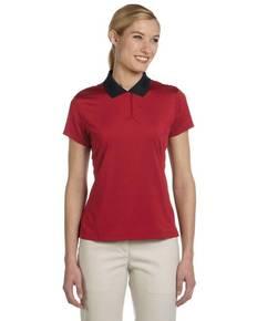 adidas Golf A120 Ladies' climalite ClassicStripe Short-Sleeve Polo