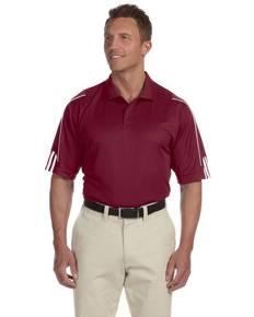 adidas Golf A76 Men's climalite 3-Stripes Cuff Polo
