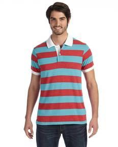 Alternative AA1905 Men's Ugly Stripe Short-Sleeve Polo
