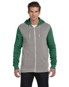 Alternative AA3203 Unisex Rocky Eco-Fleece Colorblocked Hoodie