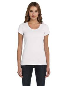 Bella + Canvas B1003 Ladies' Baby Rib Short-Sleeve Scoop Neck T-Shirt