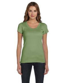 Bella + Canvas B1003 Ladies' Baby Rib Short-Sleeve Scoop Neck T-Shirt