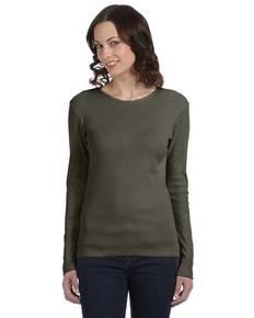Bella + Canvas B5001 Ladies' Baby Rib Long-Sleeve T-Shirt