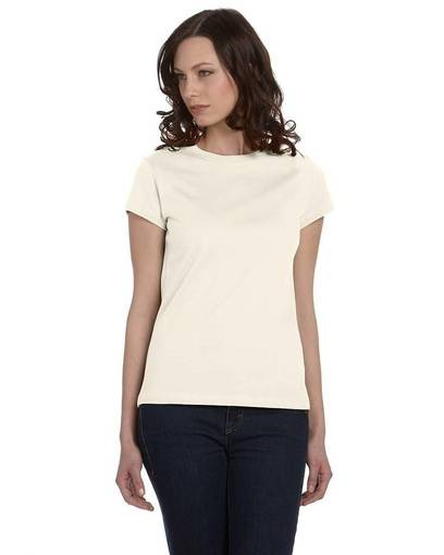 bella + canvas b6020 ladies' organic jersey short-sleeve t-shirt front image