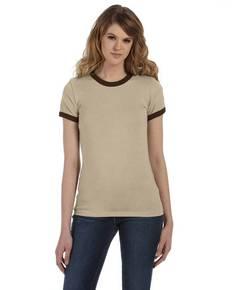 Bella B6050 Ladies' Jersey Short-Sleeve Ringer T-Shirt