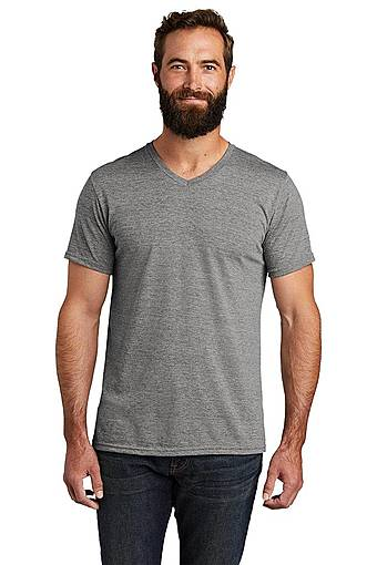 allmade al2014 allmade ® unisex tri-blend v-neck tee front image