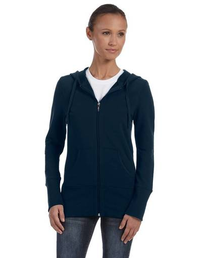 bella + canvas b7207 ladies' stretch french terry lounge jacket front image
