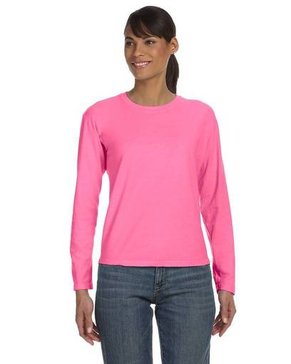 comfort colors c3014 ladies' midweight rs long-sleeve t-shirt front image