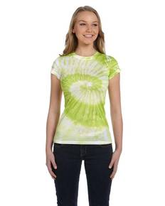 Tie-Dye CD1455 Ladies' 100% Spun Polyester with Moisture Management T-Shirt