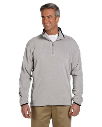 chestnut hill ch910 microfleece quarter-zip pullover front image