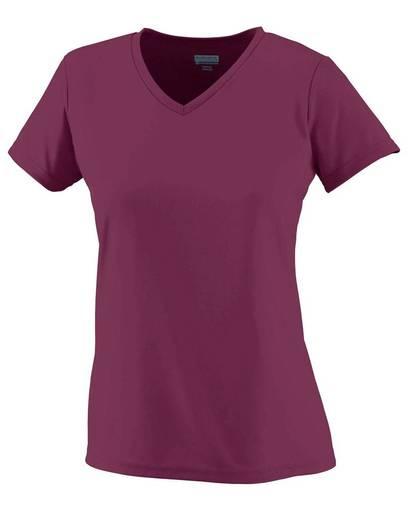 augusta sportswear 1791 girls' wicking t-shirt Front Fullsize