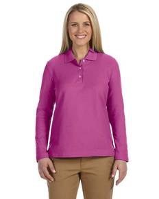 devon-amp-jones-d110w-ladies-39-pima-pique-long-sleeve-polo