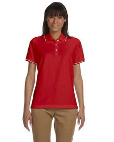 Devon & Jones D113W Ladies' Pima Piqué Short-Sleeve Tipped Polo