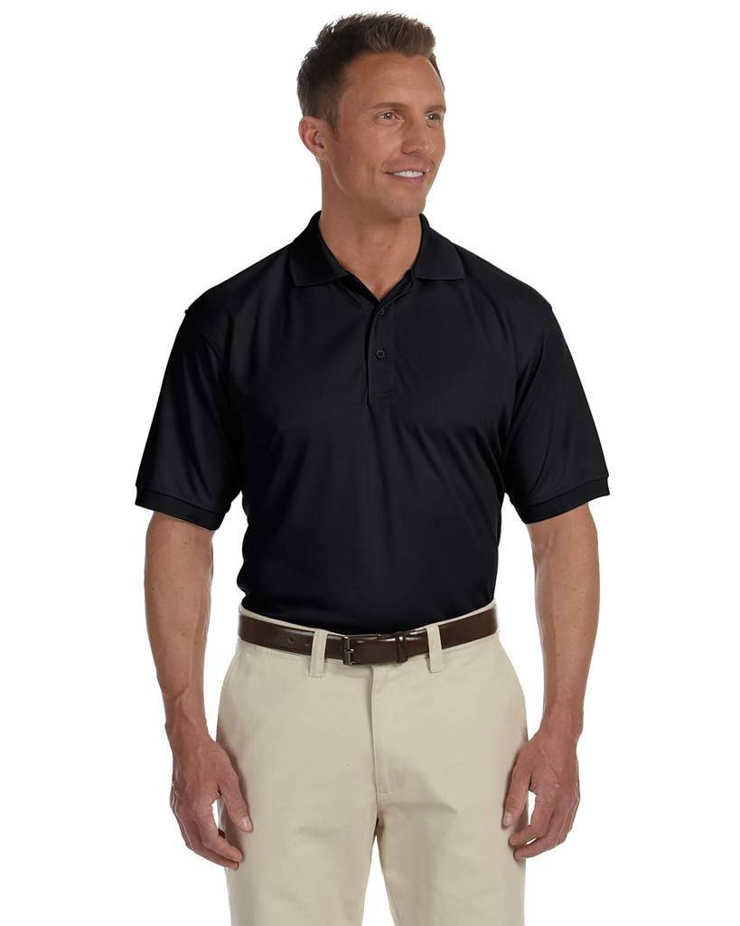 Devon Jones Dg385 Mens Dri Fast Advantage Solid Mesh Polo
