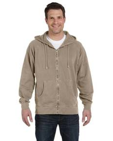 Authentic Pigment 1940 11 oz. Pigment-Dyed Ringspun Cotton Full-Zip Hood