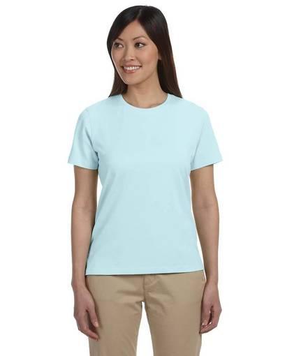 devon & jones dp155w ladies' stretch jersey t-shirt Front Fullsize