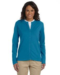 Devon & Jones DP170W Ladies' Stretch Jersey Long-Sleeve Cardigan