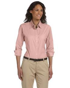 Devon & Jones DP625W Ladies' Perfect Fit™ 3/4-Sleeve Stretch Poplin Blouse