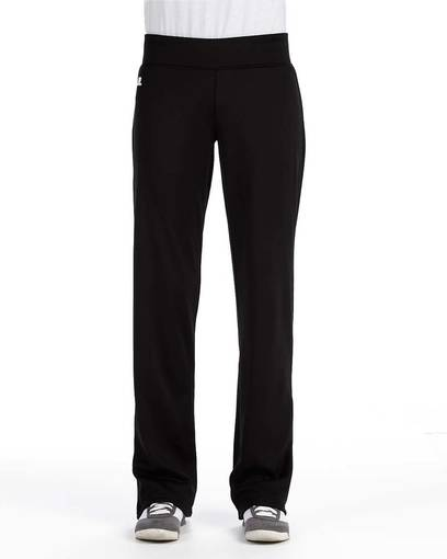 russell athletic fs5efx ladies' tech fleece mid rise loose fit pant front image