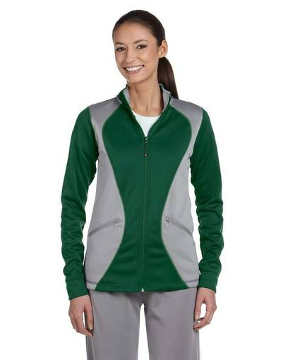 russell athletic fs7efx ladies' tech fleece full-zip cadet front image