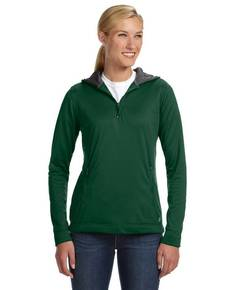 Russell Athletic FS8EFX Ladies' Tech Fleece Quarter-Zip Pullover Hood